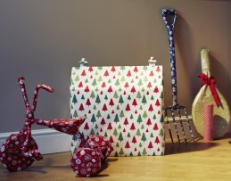 Various unusual Christmas presents wrapped